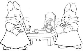 Small Picture Ruby Play Dolls House in Max and Ruby Coloring Page Coloring Sky