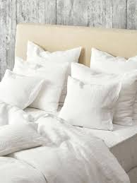 white linen duvet cover super king en lave linen duvet cover optic white