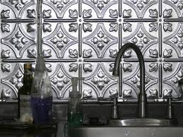Metal Wall Tiles For Kitchen Metal Tile Backsplashes Hgtv