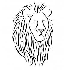 Lev Tribal Tetování Hlava Ikona Stock Fotka Zdarma Public