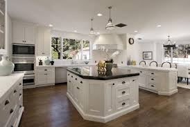 Antique White Kitchen Antique White Kitchen Cabinets With Black Granite Countertops And