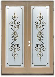glass door designer carved