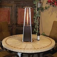 bronze bistro heater small tabletop