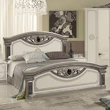 white italian bedroom furniture. Giulia - Classic Italian Bed White \u0026 Silver | On Sale! Bedroom Furniture O