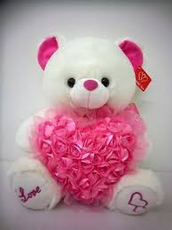 white teddy bears with hearts and roses. Unique White Musical Teddy Bear With Pink Roses Heart 14u0026quot Great Gift Idea For Girl To White Bears With Hearts And Amazoncom