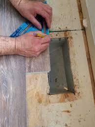 how to cut around floor vents when installing vinyl floors