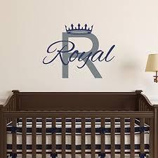 custom name prince nursery wall decal boys personalized name crown wall sticker custom name on nursery wall art stencils with amazon custom name prince nursery wall decal boys