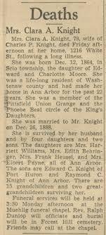 Mrs. Clara A. Knight | Ann Arbor District Library