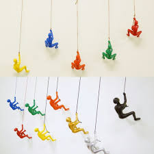 extraordinary inspiration climbing man wall art small home decor new collection of the sculptures red handmade effect blue yellow gold silver