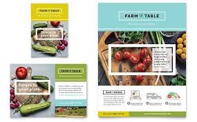 print ad templates organic food flyer and ad template design by stocklayouts coffee