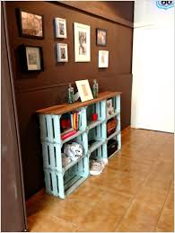 build a wood crate console for your entryway