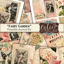 Garden Design Journal Magnificent Printable Journal Kit Vintage Fairies Fairy Garden Junk Etsy