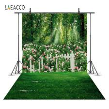 <b>Laeacco Spring Flowers</b> Garden Landscape Wedding Princess ...