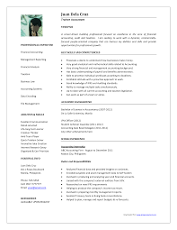 Resume For Accounts Job Accounting Position Resume