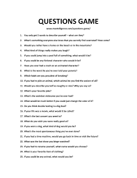 Interview Question What Do You Do For Fun The 21 Questions Game 101 Fun And Unexpected Topics