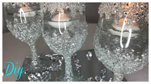 diy crushed glass centerpiece bling wedding series 2018
