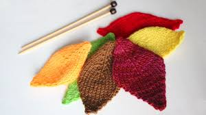 Leaf Knitting Pattern Beauteous How To Knit A LEAF Pattern With Video Tutorial Studio Knit