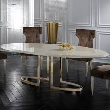 italian lacquer dining room furniture. Italian Designer Lacquered Gold Oval Dining Table Set Lacquer Room Furniture