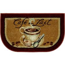 Decorative Kitchen Rugs Better Homes And Gardens Kitchen Mat Coffee Slice Rust Walmartcom