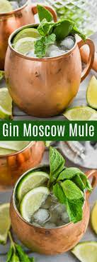moscow mule with gin shake drink repeat