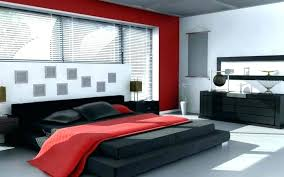 red bedroom decor black white