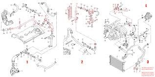 coolant flange replacement on an audi a4 (b6) Car Cooling Diagram diagram of parts to remove for coolant flange repair