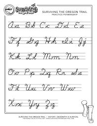 Cursive Letter Chart Free Printable Free Print Alphabet Letter Worksheets Free Abcs