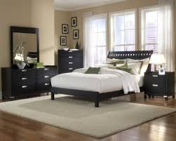 Shiny Black Bedroom Furniture Bedroom Delectable Picture Of Bedroom Design And Decoration With