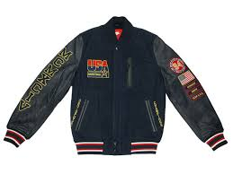 nike team usa basketball destroyer leather jacket navy dark blue 612902 473 nike sportswear shoe