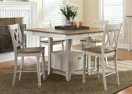 fresco gathering table 5 piece counter height dining set in driftwood sand white finish sets canada