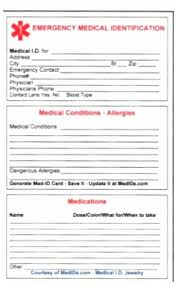 Collection Of 38 In Card Id Medical Collection Images Printable