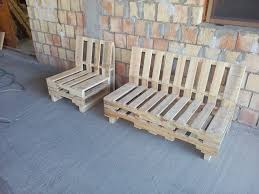 wooden pallet bench and chair