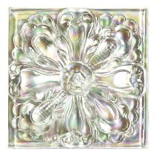 4X4 Decorative Tiles Tile Relief Deco 100 X 100 Large Glass Flower Deco 100X100 Decorative 2