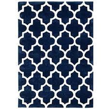 arabesque moroccan pattern wool rug blue runner 68 x 235 cm 2