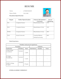 Resume Format For Teacher Job Letter Format For Job Application Of