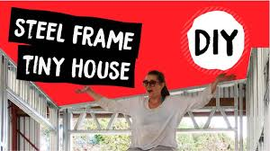 diy kit set steel framed tiny house cost weight time details