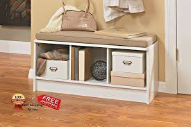 details about seat cushion entryway organizer white seat bedroom cubeical fabric 3 cube modern