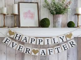 Happily Ever After Banner, Happily Ever After Sign, Happily Ever After, Wedding  Banner