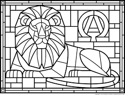 Small Picture Coloring Pages Stained Glass Window Colouring Sheets Free