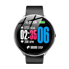 kospet v12 tempered glass heart rate blood oxygen breathing light control fitness map leather smart watch 001 cod