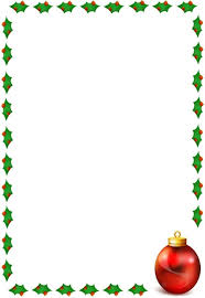 border with holly on 4 sides and a ornament