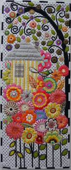 142 best Free Applique Designs images on Pinterest | Applique ... & Amazing applique birdhouse quilt - to be so talented! Adamdwight.com