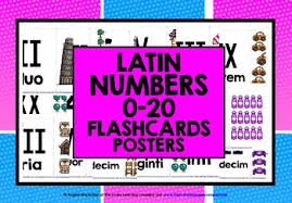 Latin Numbers Roman Numerals 1 20 By Lively Learning