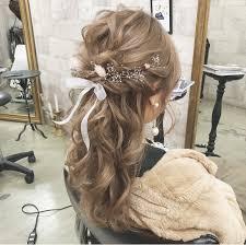 ハーフアップ ヘアアレンジ 大人かわいい 結婚式cherie Hair Design