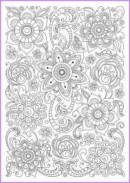 сoloring Page Doodle Flowers Printable Zen Doodle Pdf Zentangle