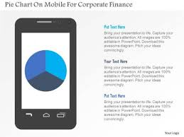 Chart Mobile Plan Business Diagram Pie Chart On Mobile For Corporate Finance