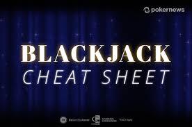 Blackjack Cheat Sheet Printable Pdf To Play And Win