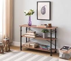 vintage industrial furniture tables design. Vintage Console Table Furniture Accent Industrial Sofa Wood Entryway Oak  Metal Vintage Industrial Furniture Tables Design