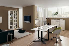 office room ideas. Office:Futuristic Office Room Ideas With Brown Wall Color And White Fur Rug Decor Futuristic N