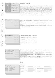 Gallery Of The Top Architecture Resume Cv Designs 15